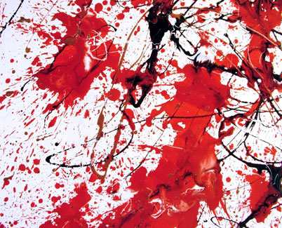 Red, white and black contemporary art